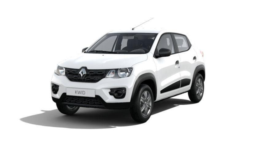 Renault Kwid Zen Branco visto de frente