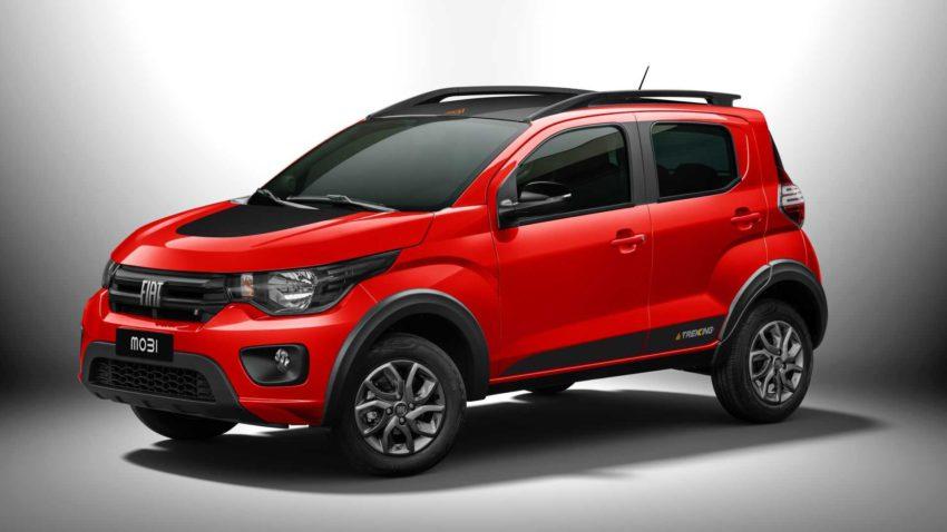 Fiat Mobi 2021 trekking vermelho