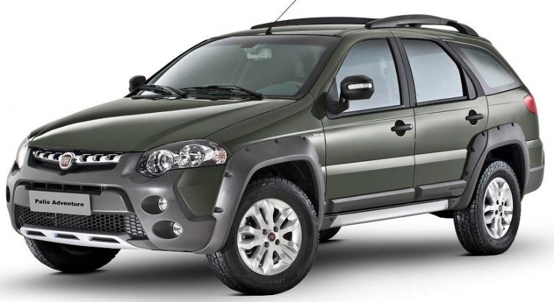 Fiat Palio Weekend Verde vista de frente