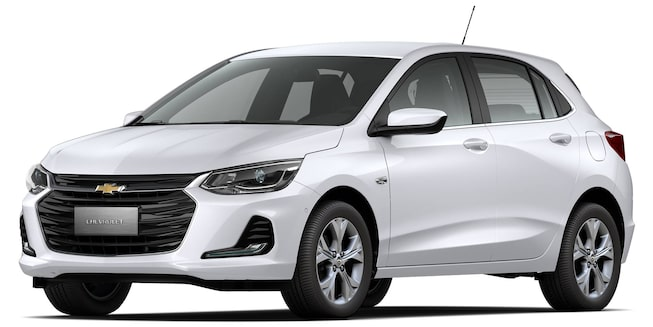 Chevrolet Onix Branco Premier visto desde a dianteira