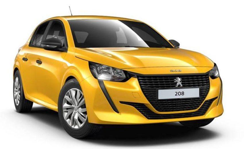 Peugeot 208 Active amarelo visto desde a dianteira