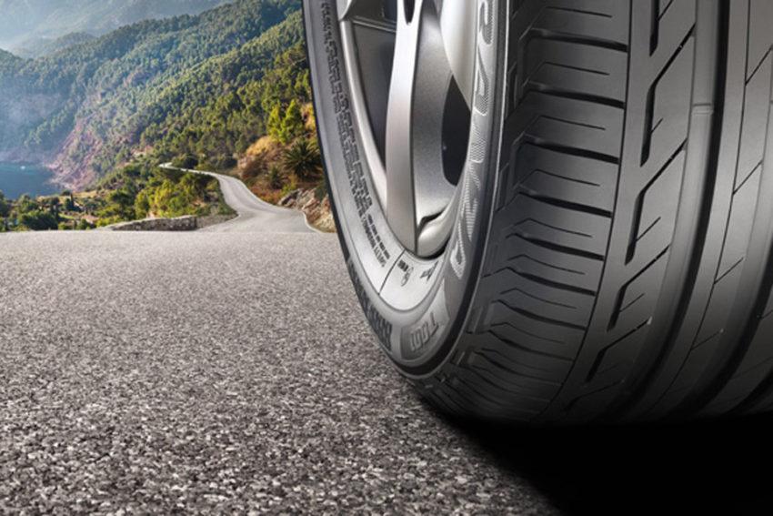 Detalhe de pneu radial