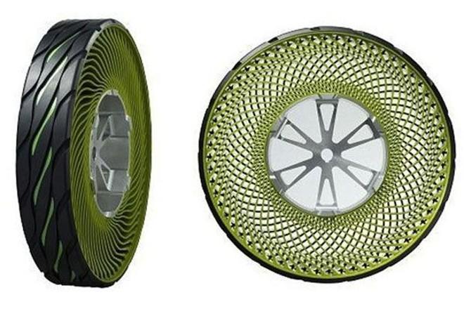 Estrutura interna de pneu que não fura