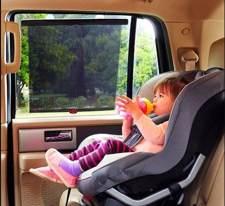 protetor sol carro bebe